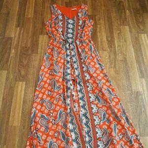 NEW! PAISLEY SHORTS  MAXI DRESS SZ S